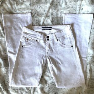 Hudson White Flare Jeans